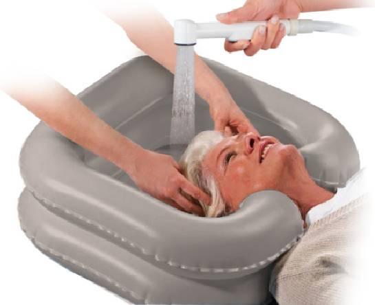 Надувной подголовник для мытья головы 61017